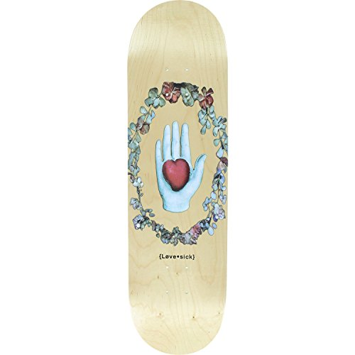 - Lovesick Hand & Heart Wreath Skateboard Deck -8.47 Natural DECK ONLY (Bundled with FREE 1