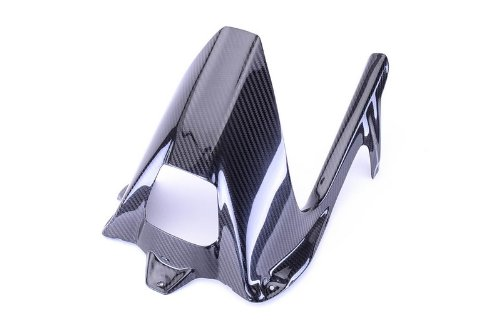Bestem CBBM-S1K-HGCG-T Black Carbon Fiber Rear Hugger with Twill Weave Chain Guard for BMW S1000RR 2009 - 2015 S1000R 2014 - 2015 by Bestem