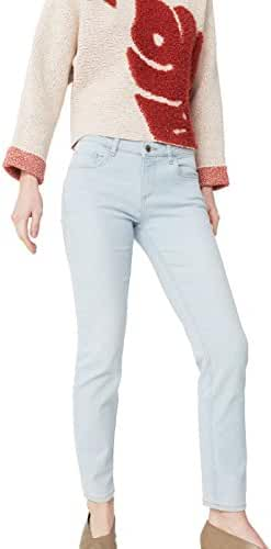 Mango Women's Straight Alice Jeans