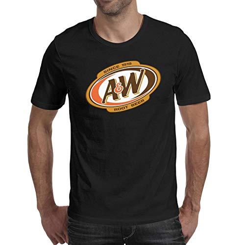 (ORYSJDGTS Short Sleeve T Shirts Mens Guys A&W-Root-Beer-Logo- Vintage Tops)