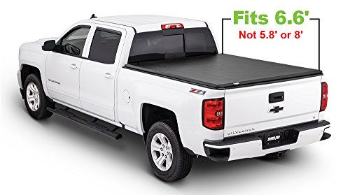 Tonno Pro HF-158 Black Hard Fold Truck Bed Tonneau Cover 2014-2018 Chevrolet Silverado/GMC Sierra 1500, 2015-2018 Silverado 2500, 3500 / GMC Sierra 2500 HD, 3500 | Fits 6.6' Bed (Best Folding Tonneau Cover For Silverado)