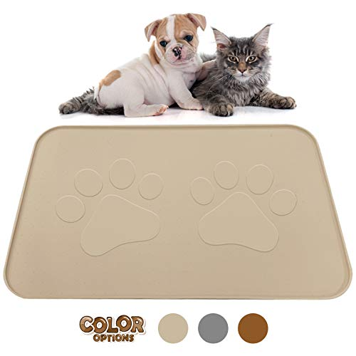 Extra Large Pet Feeding Bowl Mat with Logo - FDA...