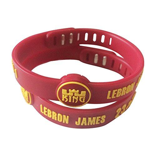 ENJOY 11 NBA Basketball Team Adjustable Silicone Bracelets Wristbands, a set of two (1Lebron James)