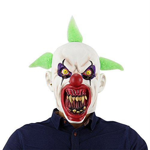 Horrible Halloween Mask Latex Head Mask Scary Plastic Costume Mask Cosplay Full Face Mask for Carnival Festival Party for Ghost Party by Yunhigh ()
