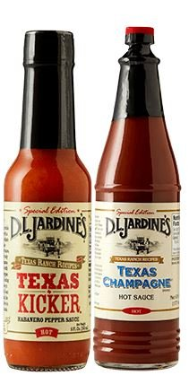 D.L. Jardines Texas Champagne Cayenne Pepper Sauce 6 oz & Texas Kicker Habanero XX Hot Sauce, 5 oz (2 bottle Variety Pack)