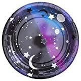 We Love Sundays Galaxy Paper Plates | 10-Pack | Great for Outer Space/Stars and Moon Themed Parties