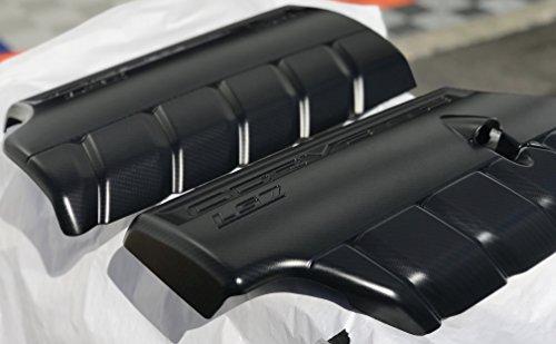 Performance Corvettes C6 Z06 ZO6 LS7 7.0L Matte Carbon Fiber HydroGraphics Fuel Rail Engine Covers
