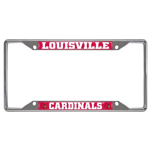 FANMATS NCAA University of Louisville Cardinals Chrome License Plate - Rug Cardinals Spirit