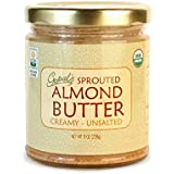 Gopal's Sprouted Organic Almond Butter from Certified Organic and Raw Almonds (Creamy and Unsalted Butter) 8 Ounces