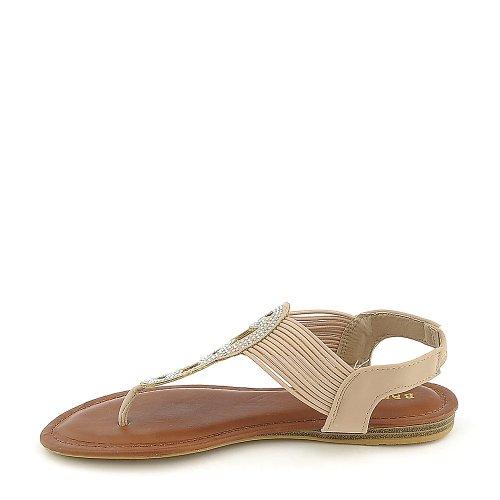 Bambus Kvinners Mason-07 Sandal - Naken Størrelse 6