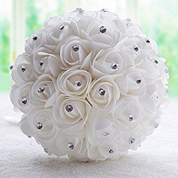 Wedding Flowers Online.Wedding Bouquet Bridal Bridesmaid Flower Artificial Flower Rose