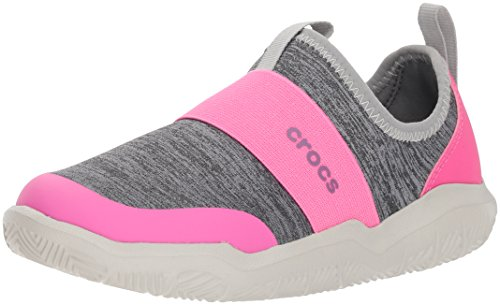 Crocs Unisex Swiftwater EasyOn HTHR Shoe K Sneaker, Light Gr