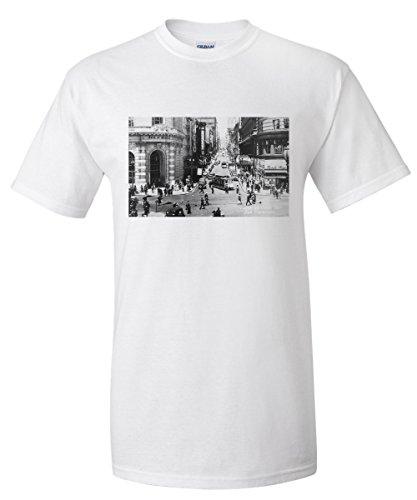 San Francisco, California - Powell Street Cable Cars - Vintage Photograph (White T-Shirt - Street Powell Francisco San One
