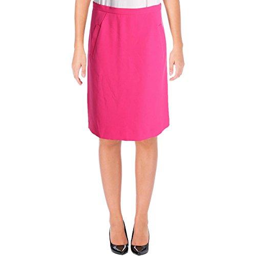 Kasper Womens Knit A-Line Mini Skirt Pink 12