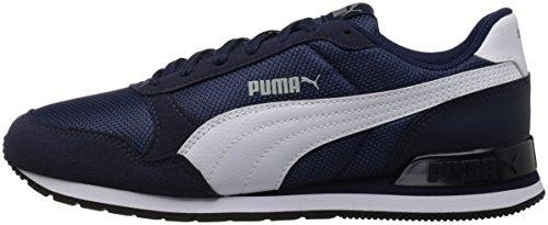 PUMA Unisex-Kids ST Runner V2 Mesh Sneaker, Peacoat White, 2 M US Little Kid by PUMA (Image #5)