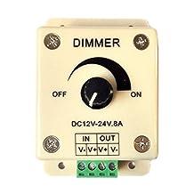 Mr.Geeker DC 12V-24V 8A LED Light Dimmer Single Color Switch Brightness Controller