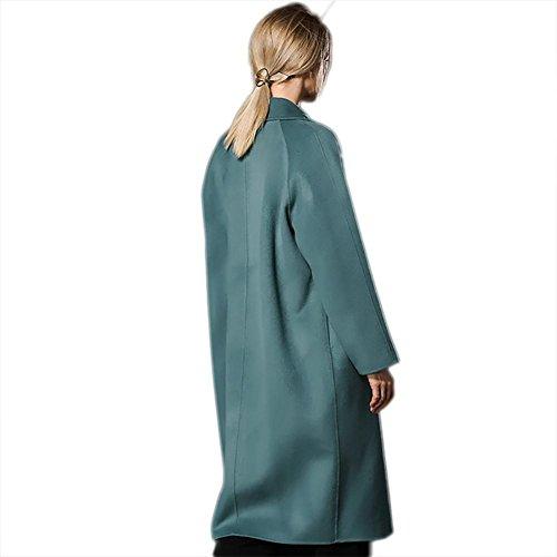 Chaqueta Outwear doble las doble traje de de Chaqueta engrosamiento L suelto de Chaqueta green cachemira de de S de pea de rompevientos invierno otoño estilo XL cara mujeres M botín lana rqrtRvZ