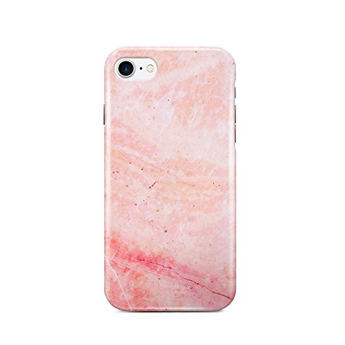 Colorful Opal Ring - iPhone 7 Plus Case , Slash Anti-Scratch Ultra Thin Shock Proof Transparent Coating iPhone 7 Plus Hard Case , Marble Design (Pink Marble)