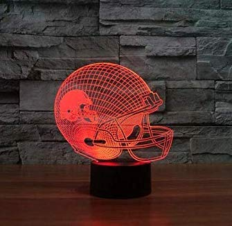 Football Helmet Light - Touch Control Football Helmet Light Lamp- Upgraded Color Changing Touch Light - Night Light for Boys Men Women - Perfect Gift for Football Sports Lovers (Cleveland Browns)