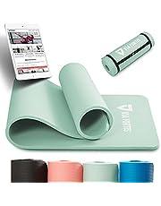 VIA FORTIS Mata gimnastyczna z paskiem do noszenia – antypoślizgowa i wytrzymała (193 x 61 x 1,5 cm) – mata sportowa, mata do jogi, idealna do jogi, pilatesu, treningu, aktywności na świeżym powietrzu, na siłownię i do domu