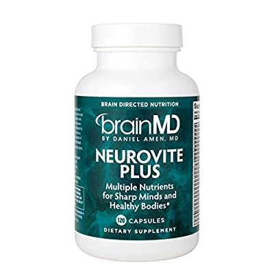 Dr. Amen BrainMD Health NeuroVite Plus Multi-vitamin Mineral Supplement for Healthy Brain and Body Support, 120 Capsules