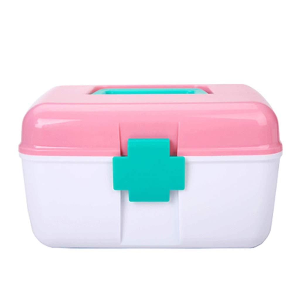 LSXUE Household Storage Box Multi-Function Portable Plastic Storage Box Makeup Kit Compartment Drug Drug Manager Cosmetics Set Perfume Storage