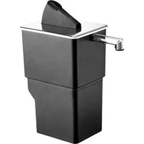 Server Products SE-Single-07000 Countertop or Drop-in Express Pouched Condiment Dispenser, Rectangular, Plastic, Black/Stainless - Single Dispenser Condiment