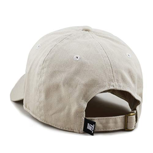 fd8f3022a416ae ... The Hat Depot 300N Washed Cotton Low Profile Baseball Cap (Beige) ...