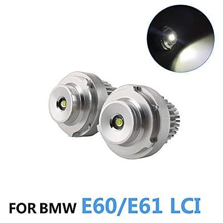 ZXREEK 20W 1200 Lumens LED Angel Eyes Bulb Headlight Marker Light Halo Ring 6500K Xenon White Daytime Running Light For 3 Series E90 E91 LCI 63117161444