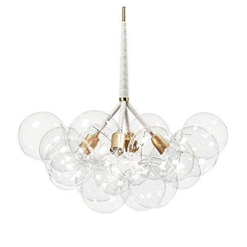 Bubble Glass Chandelier Chandeliers Lighting Suspension Light Ceiling Light Pendant Lamp Ceiling Mount 4 Lights with 12 Bubble Glass