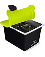 EVERIE Sous Vide Container 12 Quart with Collapsible Silicone Lid and Container Sleeve Compatible with Anova Nano and New Anova AN500-US00, Also Fits Instant Pot (Bundle03-Nano-GJ)