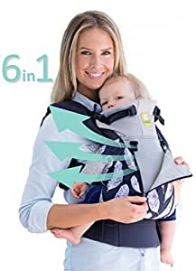 SIX-Position, 360° Ergonomic Baby & Child Carrier by LILLEbaby – The COMPLETE All Seasons (Charcoal/Feathers)