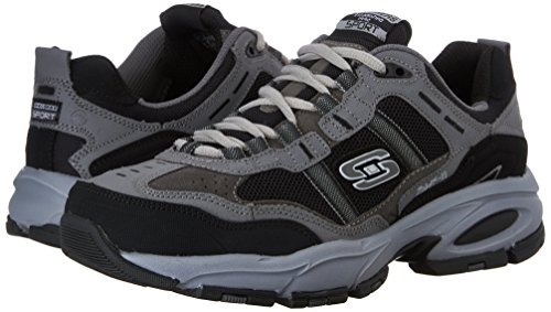 2db0b03dcfcea Skechers Sport Men's Vigor 2.0 Trait Memory Foam Sneaker, Charcoal/Black,  12 XW