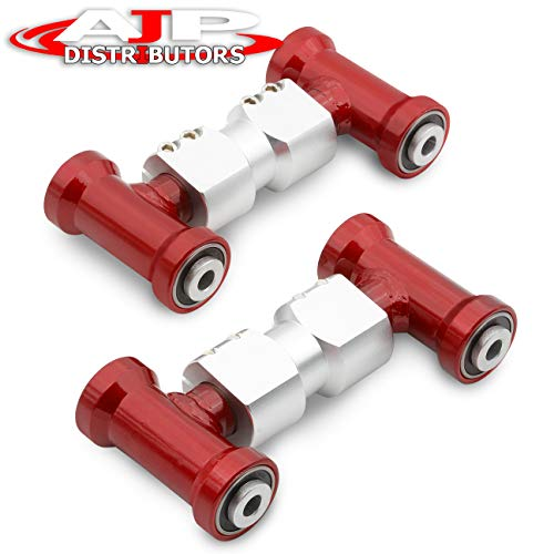 (Fits Nissan Skyline R32/300Zx Z32 Adjustable Front Upper Camber Arms Set Assembly Red)