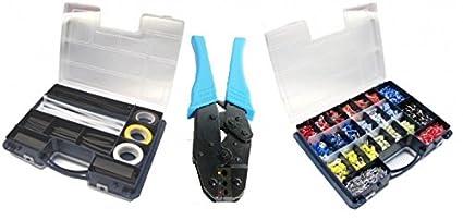 Alicate de crimpar -6 qmm + surtido eléctrico casquillos fundas cables