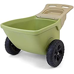 Simplay3 Easy Haul Plastic Wheelbarrow w/Garden Tool Storage Tray, 4 cubic ft. Capacity
