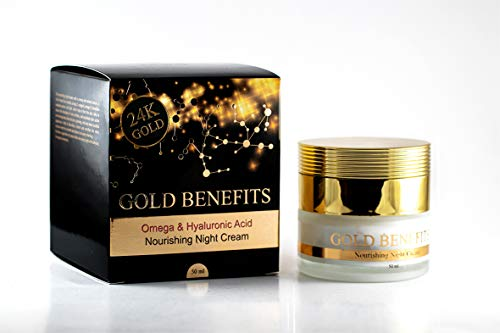(Nourishing Night Cream with Gold Benefits, rich in Dead Sea minerals, 24k skin care, Gives the skin a glowing, vital and more youthful appearance. help to reduce the formation of)