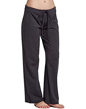 CYZ Women's Casual Stretch Cotton Pajama Pants Simple Lounge Pants