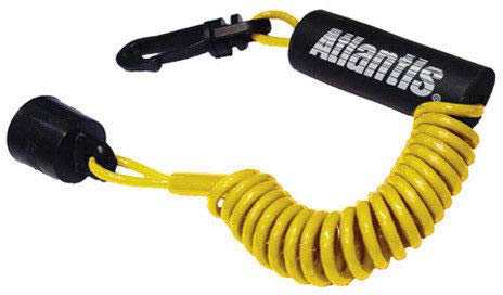 73260f5c566e2 Atlantis Floating Safety Lanyard Ignition Cap Key Stop Switch Yellow Fit  Sea-Doo