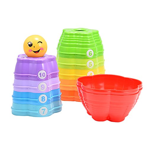 ThinkMax Rainbow Stacking Cups for Baby Early Development