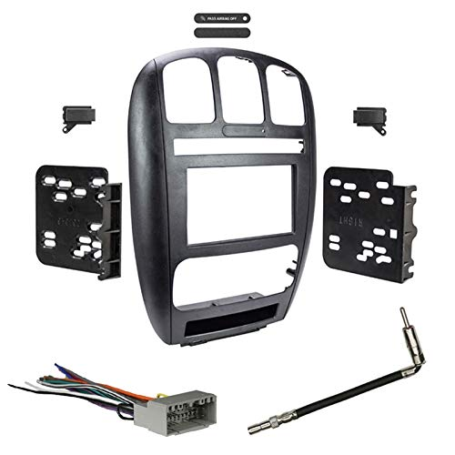 Metra 95-6539 Double DIN Dash Kit Combo for Select 2002-2007 Dodge Caravan/Chrysler Town & Country by Metra