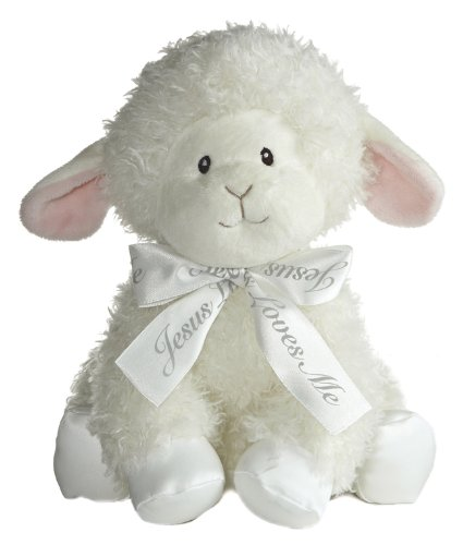Aurora Baby Blessings Wind Up Musical Plush, Lamb (Blessings Lamb)