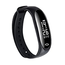 Kyson Blood Pressure SPO2H Heart Rate Sleeping Monitor Fitness Tracker Bracelet - IP67 Waterproof Sports Wristband Digital Smart Watch With Reminder Function OLED Touch Screen For Android IOS
