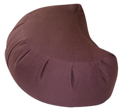 Kapok Crescent Zafu Meditation Cushion, Burgundy