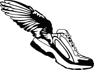 Winged Shoes Rubber Shoes Angel Wings Vinyl Wall Decal