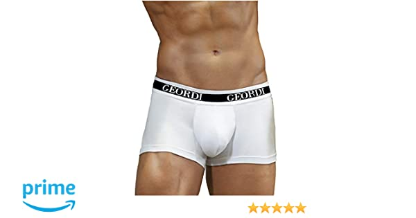 DIANE & GEORDI 5170 Men Underwear Boxer Ropa Interior Hombre 3Pack White M at Amazon Mens Clothing store: