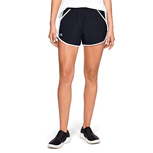(Under Armour Women's UA Fly-by Team Shorts SM Black)