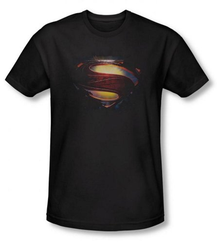 Superman Man of Steel Grunge Shield T-Shirt