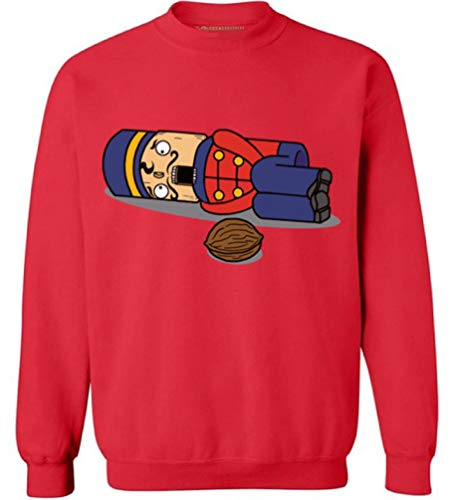 Awkwardstyles Nutcracker Christmas Sweater Funny X-mas Gift Sweatshirt M -