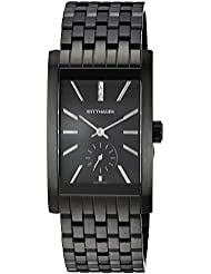 Wittnauer Mens Quartz Stainless Steel Casual Watch, Color:Black (Model: WN3069)